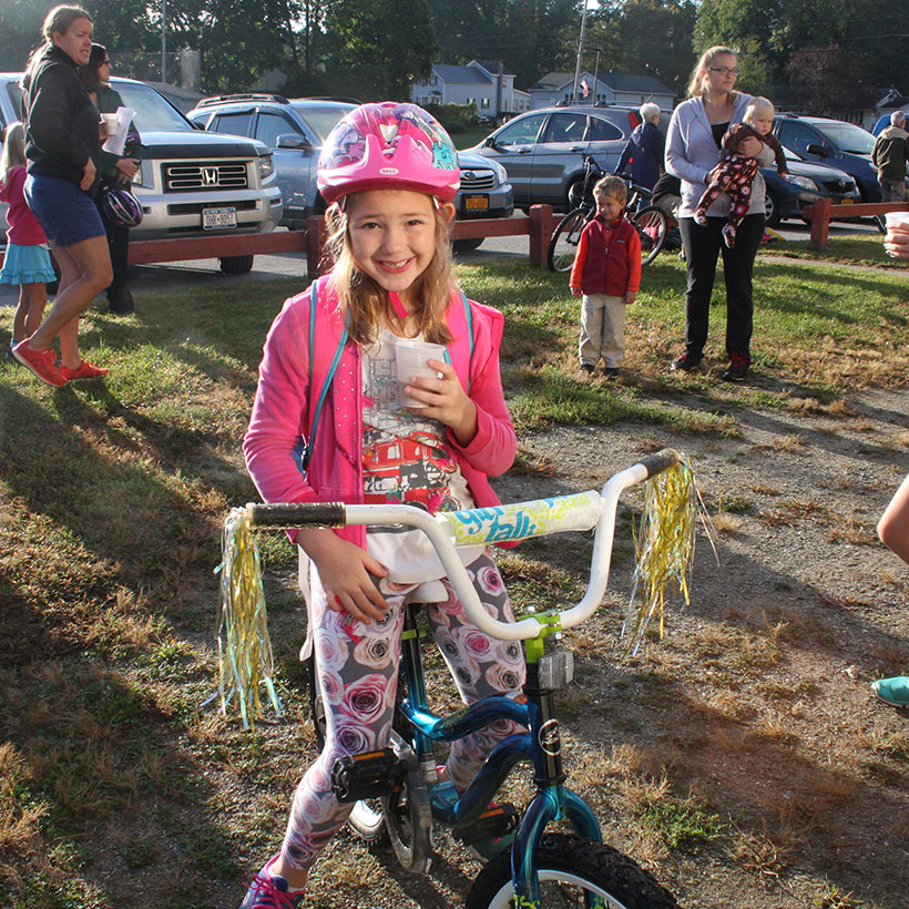 Student on Bike to School Day