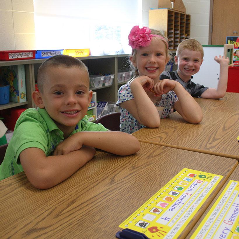 Elementary School students in class