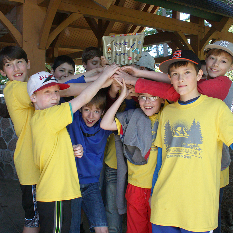 Schuylerville sixth-graders at Camp Chingachgook.