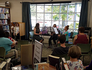 Student musicians performing at fall festival