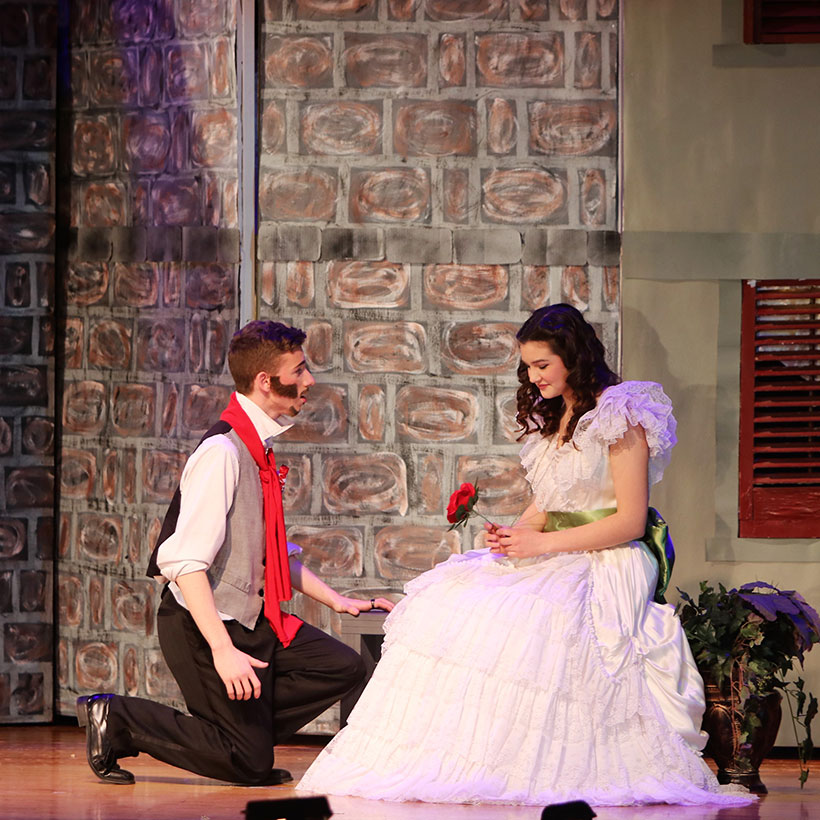 Drama club production of Les Miserables