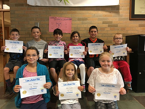 "Students recognized as ""bucket fillers"""