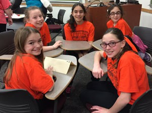 Students at Battle of the Books competition