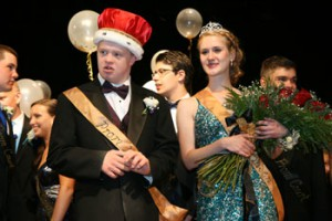 Prom King Nick Rhodes and Queen Liz Watson