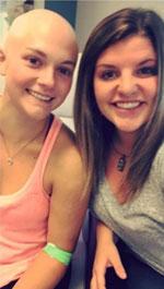 Samantha Toleman and a friend