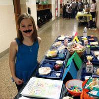 Student at health fair