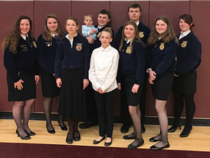 FFA members who competed at the sub-state competition