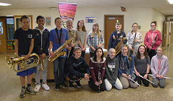 Students in grades 7 and 8 who participated in the 2017 New York State School Music Association (NYSSMA) Solo Festival