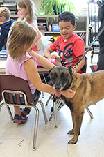 Students Interact with K9 Unit