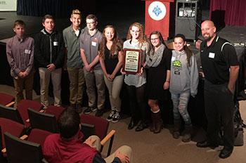 Student-athletes at leadership summit