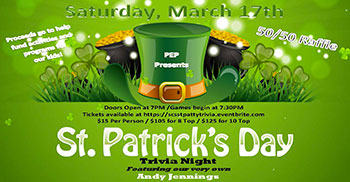 St. Patty's Day Trivia Flyer