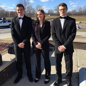 (L-R): Zach Galcik, Meghan Clark, Derek Willson