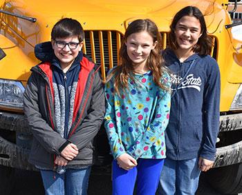 (L-R): Nate Levin, Mary McGloine, Madelynne Solan