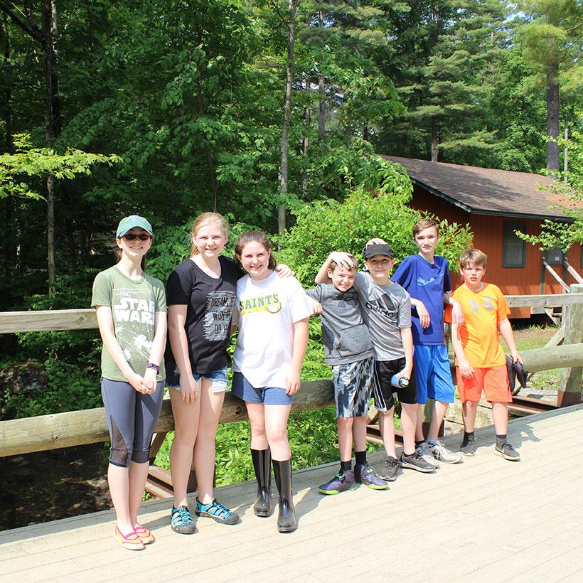 Sixth-graders at Camp Chingachgook