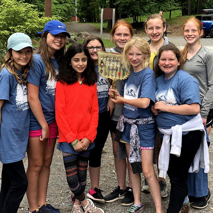Sixth grade girls at Camp Chingachgook