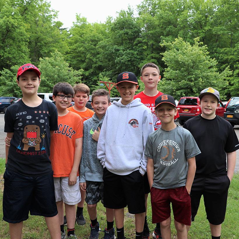 Sixth grade boys at Camp Chingachgook