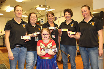 First-grader who handed out candy bars to kitchen staff