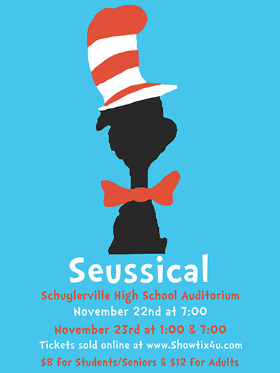 Seussical Poster Design