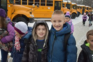 Elementary students return to school after the holiday break