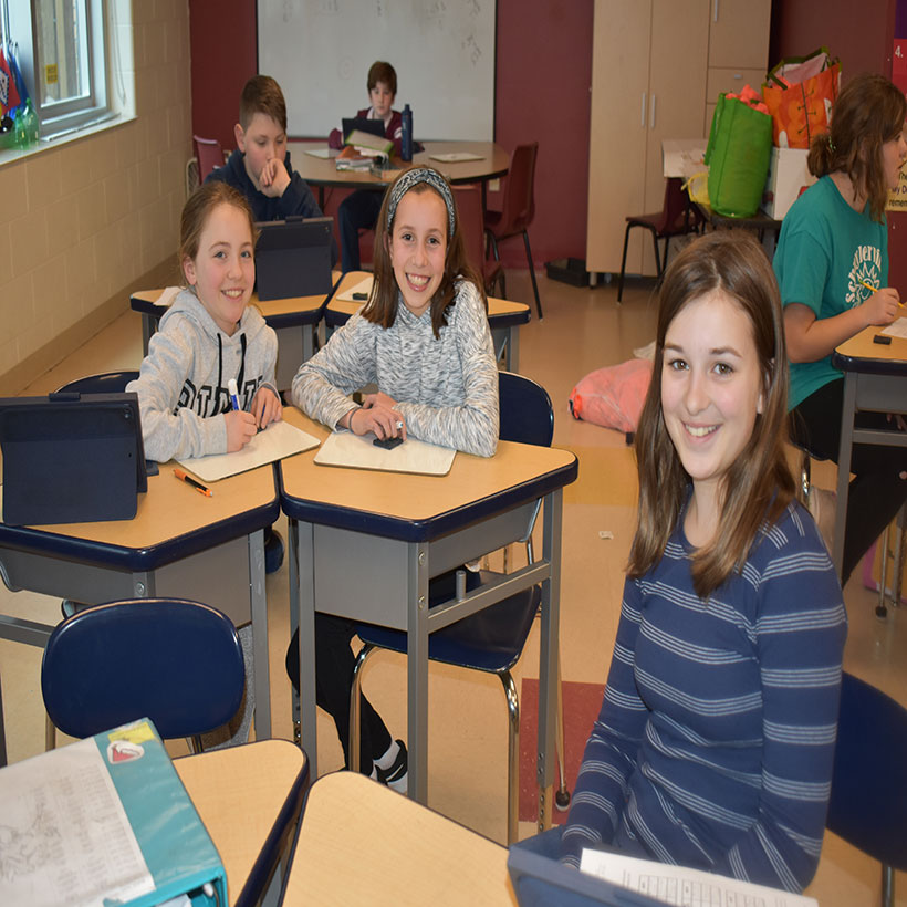 Schuylerville middle school students