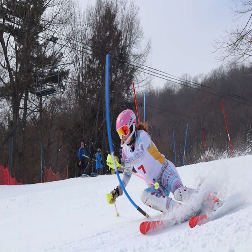 Hannah Klingebiel wins the state Alpine skiing championship