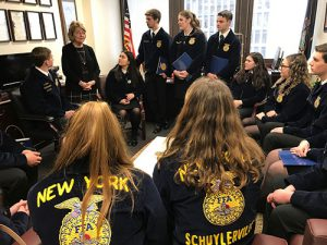 Students speak with state legislators