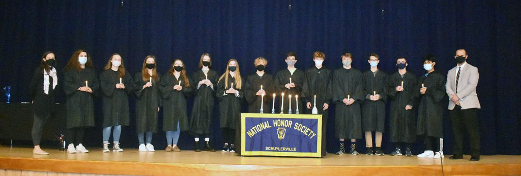 The 2020 Schuylerville National Honor Society inductees