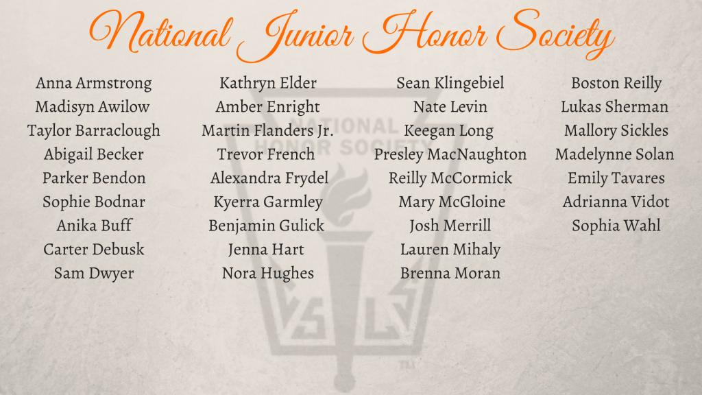 National Junior Honor Society names