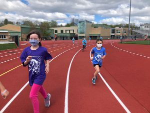 Students participate during the 2021 Fun Run