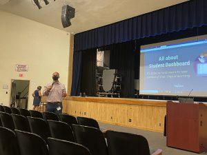 Principal James Ducharme presents